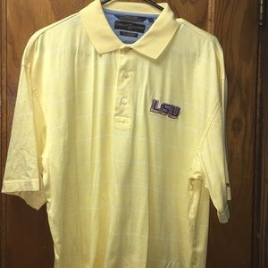 Tommy Hilfiger Men's Yellow & White Stripped Polo